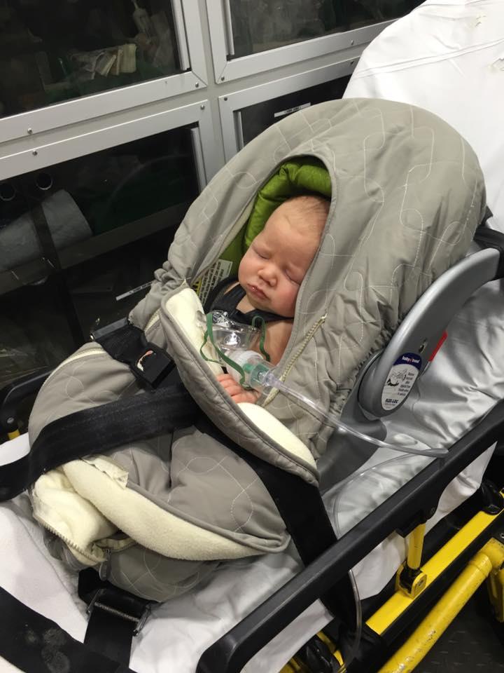 Ambulance ride to Children's Hospital.